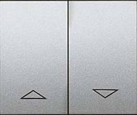 Лицевая панель выключателя управления рольставнями (арт.775804/14) 2-клавишного Legrand Galea Life Алюминий (771314)