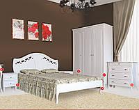 Кровать Луиза белая двухспальная