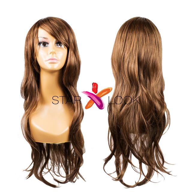 парик шоколадный длинный 80 см