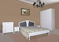 Кровать Луиза ( шпон) белая двухспальная