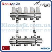 Коллекторная балка для отопления AW (пара) на 10 контура.