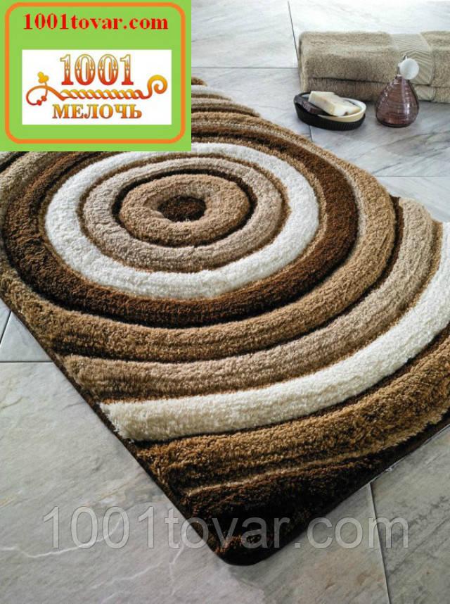"""Набір килимків з 3-х штук """"Confetti"""" в ванну 100х60 див., туалет 50х60 см з вирізом і 50х60 см БЕЗ вирізу"""