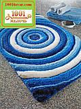 """Набір килимків з 3-х штук """"Confetti"""" в ванну 100х60 див., туалет 50х60 см з вирізом і 50х60 см БЕЗ вирізу, фото 7"""