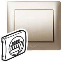 Лицевая панель розетки акустической (для динамиков) двойная Legrand Galea Life Титан (771425)