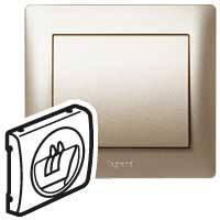 Лицевая панель розетки акустической (для динамиков) одинарная Legrand Galea Life Титан (771400)