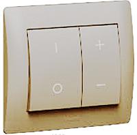 Лицевая панель светорегулятора (арт. 775652/53) клавишного Legrand Galea Life Жемчуг (771586)