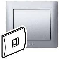 Лицевая панель телефонной розетки RJ11 (арт.775938) Legrand Galea Life Алюминий (771395)