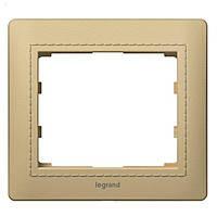 Рамка 1 постовая Legrand Galea Life Leather Havanna (771990)