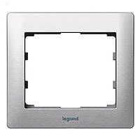 Рамка 1 постовая Legrand Galea Life Metal Brushed Aluminium (771951)