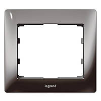 Рамка 1 постовая Legrand Galea Life Metal Black Nickel (771941)