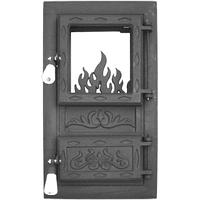Дверца для печи и барбекю Цветок, печная дверца со стеклом
