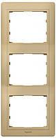 Рамка 3 поста вертикальная Legrand Galea Life Leather Havanna (771994)