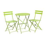 Комплект садовой мебели,складной, металлический, цвет зеленый