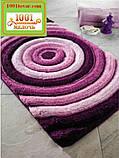 """Набір килимків з 3-х штук """"Confetti"""" в ванну 100х60 див., туалет 50х60 см з вирізом і 50х60 см БЕЗ вирізу, фото 9"""