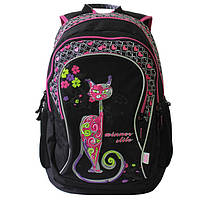 Рюкзак для девочки Cat, Winner Stile, черно-розовый