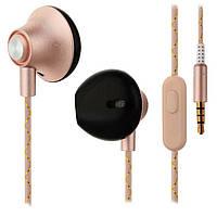 Вакуумные наушники с микрофоном, OVLENG IP 310 ROSE-GOLD