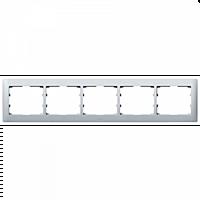 Рамка 5 постов горизонтальная Legrand Galea Life Алюминий металлик (771305)