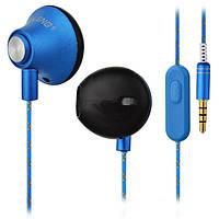 Вакуумные наушники с микрофоном, OVLENG IP 310 BLUE
