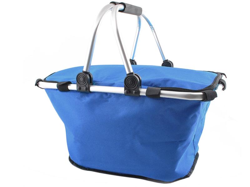 Алюмінієва термо корзина кошик термосумка для пікніку синій