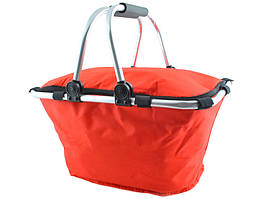 Алюмінієва термо корзина кошик термосумка для пікніку червоний