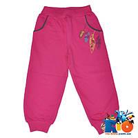 Детские спортивные брюки, трикотаж, для девочки от 1-4 лет