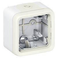 Коробка для накладного монтажа 1-постовая (в комплекте с сальниками) IР55, IК07 Legrand Plexo Белый (069689)