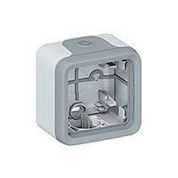 Коробка для накладного монтажа 1-постовая (в комплекте с сальниками) ІР55 ІК07 Legrand Plexo Cерый (069651)