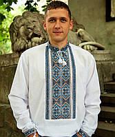 Вышиванка мужская Княжая (43 размер L-XL) - домоткана тканина