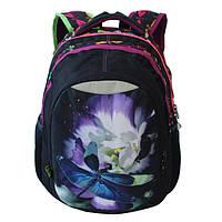 Рюкзаки для девочек (расцветка сова, стрекоза, цветы))