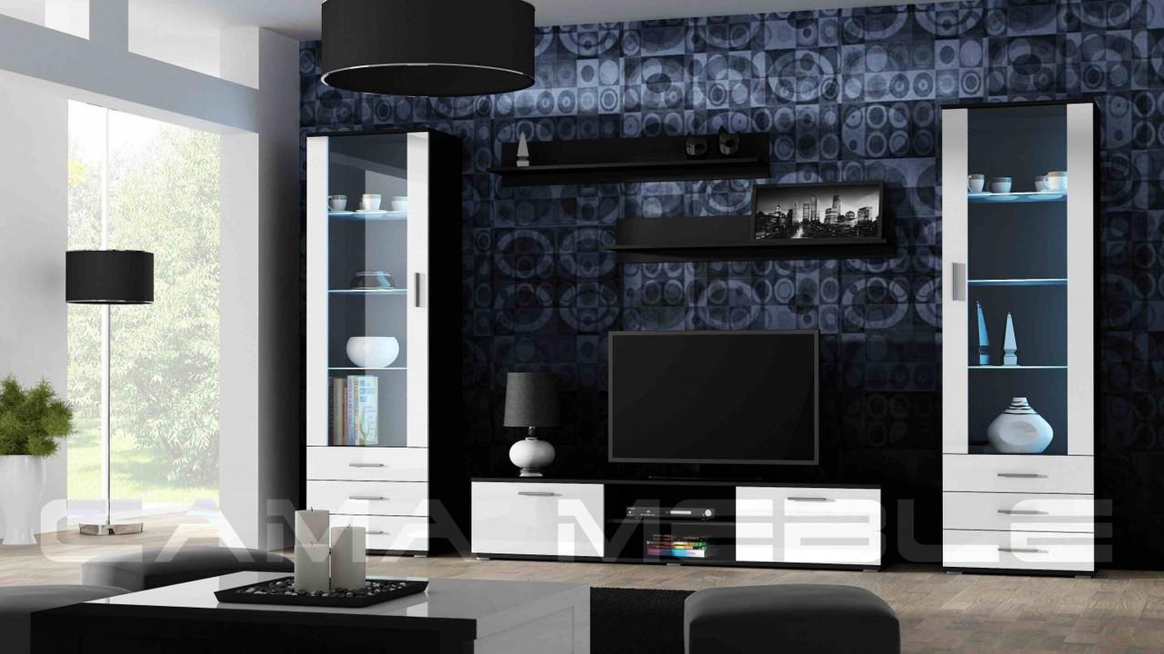 Гостиная Soho 4 Cama черный/белый глянец
