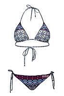 Купальник женский бикини КЖ - 758 Синий принт