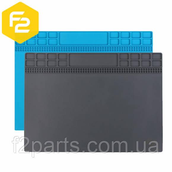 Коврик для пайки 35 х 25см, термостойкий силиконовый мат с ячейками под винты, SS-004А.