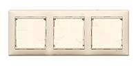Рамка 3 поста горизонтальная Legrand Valena Слоновая кость (695633)