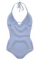 Купальник женский цельнокройный КЖ - 769 Синяя полоска