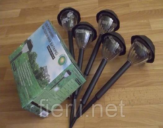 Садовый светильник на солнечных батареях ( в наборе 5 шт.)