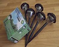 Садовый светильник на солнечных батареях ( в наборе 5 шт.) , фото 1