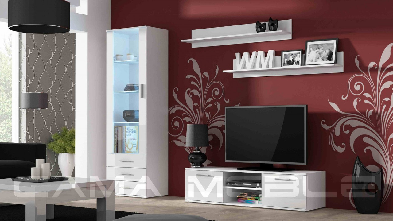 Гостиная Soho 7 Cama белый/белый глянец
