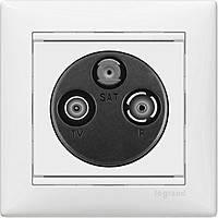 Розетка TV-R-SAT 2-х кабельная Legrand Valena Белая (770410)