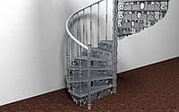 Винтовая лестница из алюминия