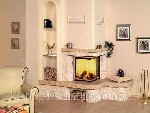 Камин с боковым дымоходом сверление кирпичной стены под дымоход