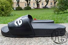 Мужские шлепанцы Supreme Slide Black, фото 2