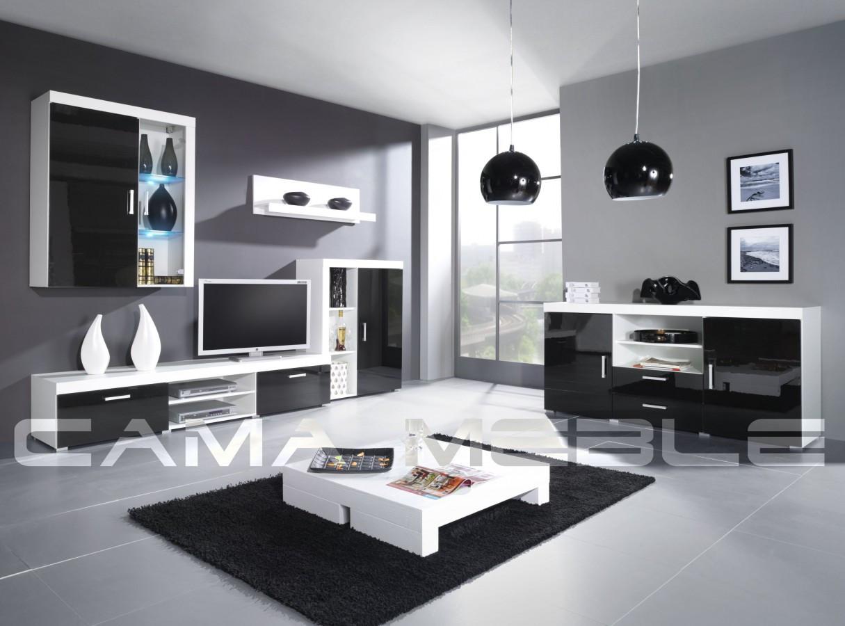 Гостиная Samba C Cama белый/черный глянец