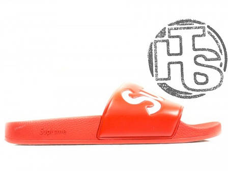 Чоловічі капці Supreme Slide Red, фото 2