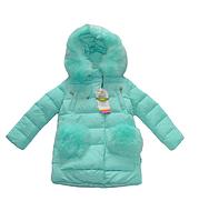 Зимние пальто на девочку Kiko 110, 116, 122 ТИНСУЛЕЙТ