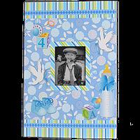 Детский фотоальбом для мальчика на 300 фотографий, синий