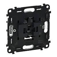 Выключатель 6А 250В (кнопочный/автоматические клеммы) Legrand Valena IN'MATIC (752011)