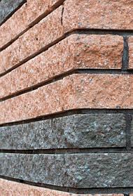 Фасадный камень пустотелый 250х100х65 вишня