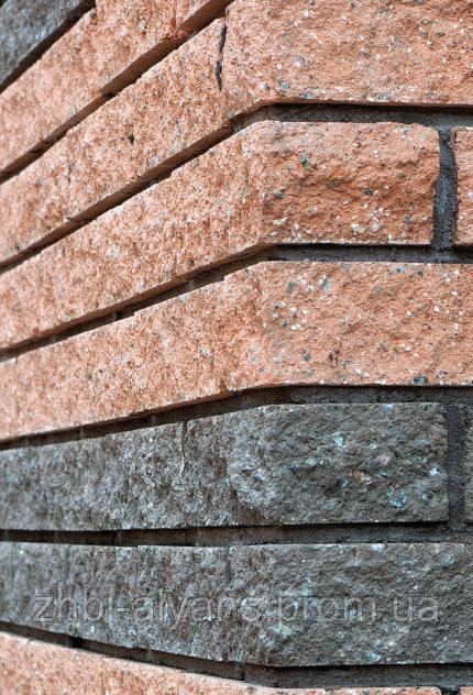 Фасадный камень пустотелый 250х100х65 графит