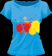 Печать логотипов или прикольных надписей  на женских  цветных  футболках