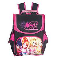 Школьный ранец для девочки Winx 1-3 класс, Winner Stile, черный с розовым